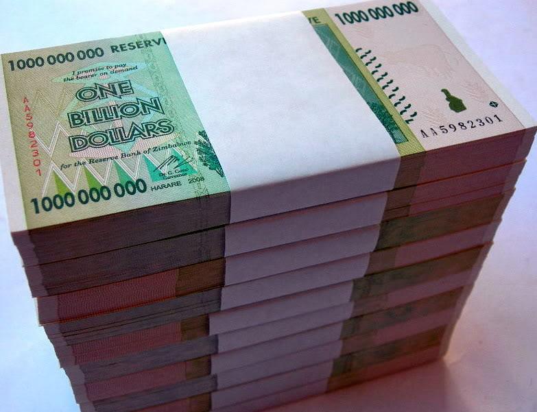 Wow, Uang pecahan Zimbabwe senilai $ 100,000,000,000,000 ...